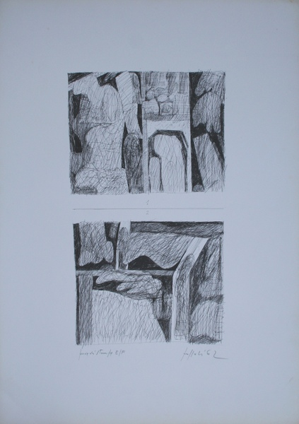 0010 Concetto Pozzati, 1962, litografia pds