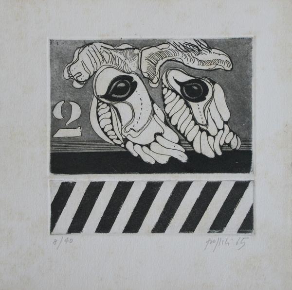 0013 Concetto Pozzati, 1965, incisione 8-40