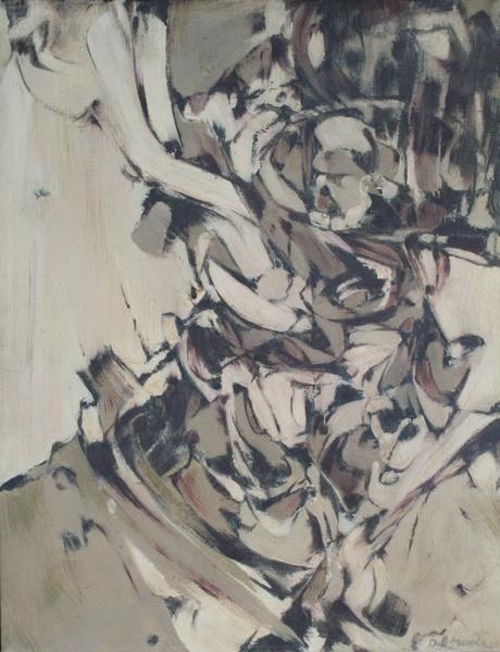 0017 Mario Guido Dal Monte, Pittura n17, 1961, olio su tela