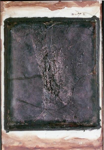 0069 Arturo Carmassi, Sabbia, 1994, t.m. su cartone