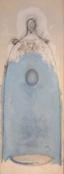 0092 Giuliano Collina, Mater Dei, 2003, t.m. su tela