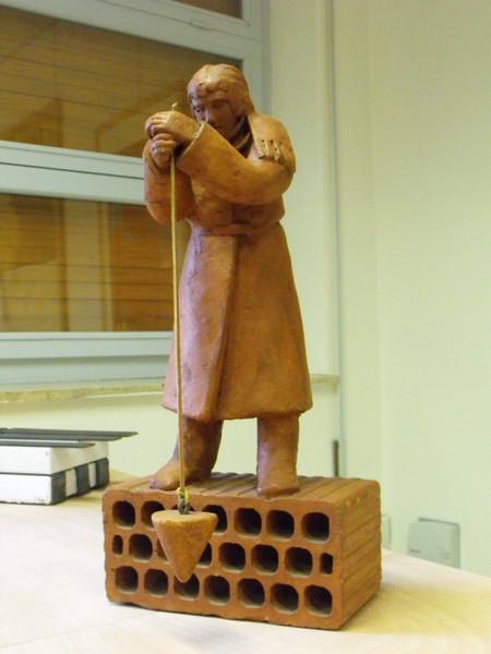 0095 Cordelia Von den Steinen, A piombo, 2004, terracotta