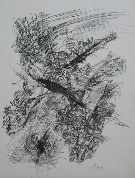 0117 Camille Bryen, litografia