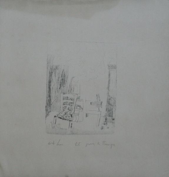 0134 Carlo Leoni, litografia