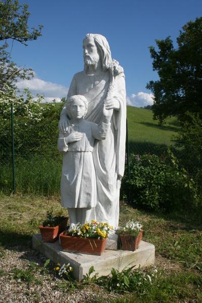 0152 Paolo Perotti, San Giuseppe e il Bambino, marmo