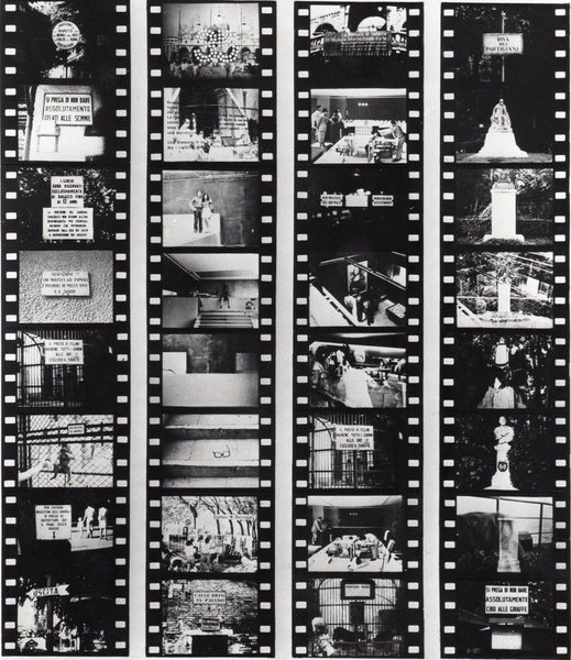 Aldo Tagliaferro, Prova di stampa per Analisi di un ruolo operativo, 1970, fotografia