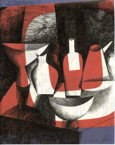 Augusto Vignali, Composizione, 2010, china su carta