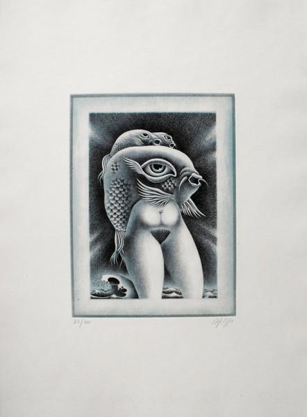 Domenico Difilippo, Venere dei pesci o del mare, 1986, incisione 25-100