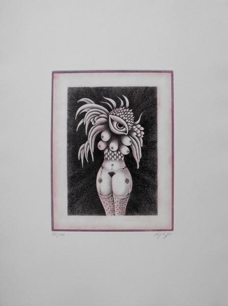 Domenico Difilippo, Venere della fecondita o dei seni, 1986, incisione 25-100