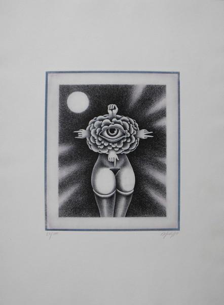 Domenico Difilippo, Venere delle nuvole o dei segni, 1986, incisione 25-100