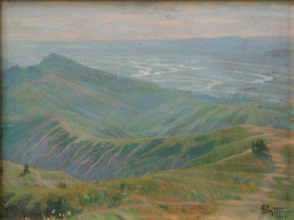 Igino Gatti, Valle del Taro, 1925, olio su tavola