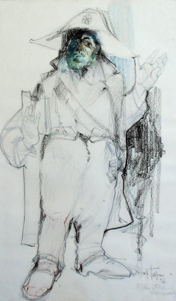Luigi Tessoni, Il teatro in provincia, prova generale, 1966, tm su carta