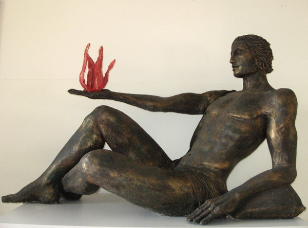 Sara Righi, Prometeo, 2003, resina