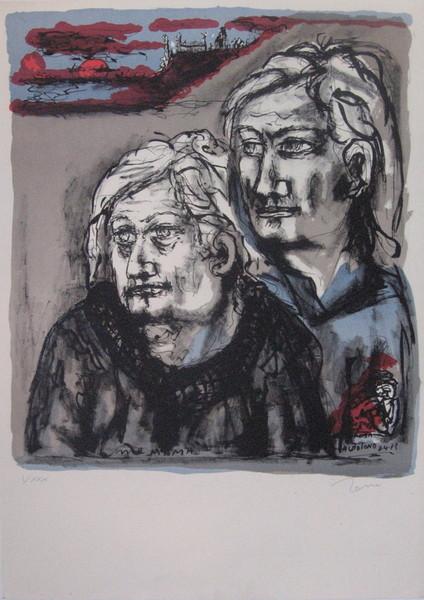 Tono Zancanaro, Me Mama, Me papa, Autotono, 8 aprile 1973, litografia I XXX