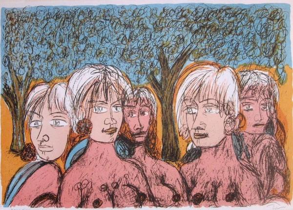 Tono Zancanaro, Oliveto del sud, 1984, litografia XXIX XXX
