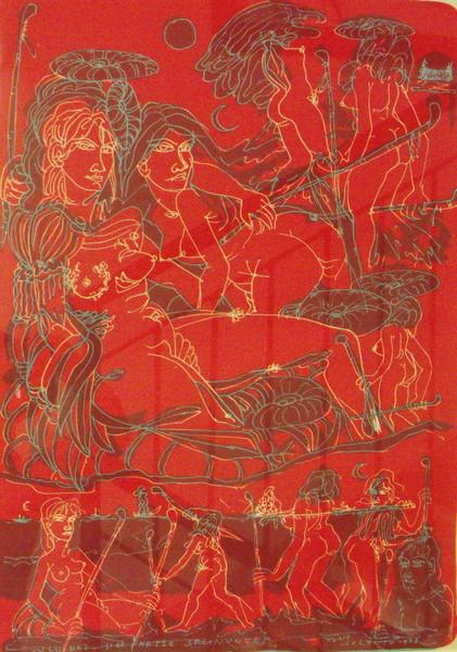 Tono Zancanaro, Tono soltano, 1973, litografia 13 100