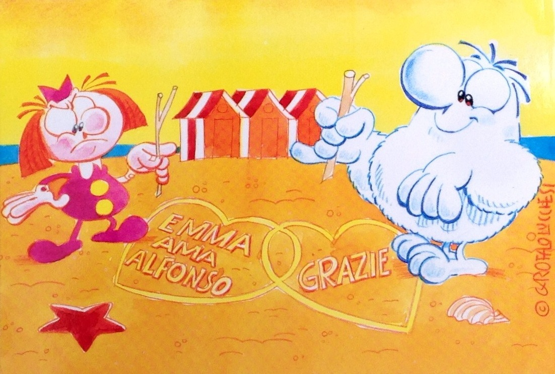 Cartolina Alfonso e Emma 103x15 cm 2